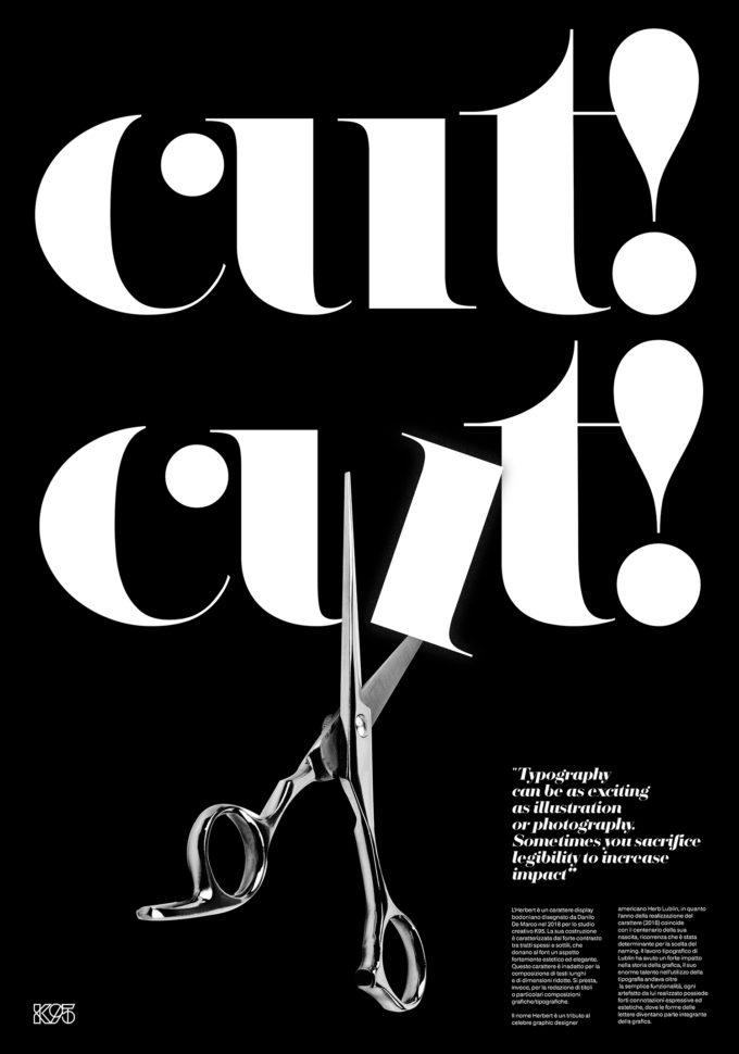 Cut Cut – Herbert Typeface