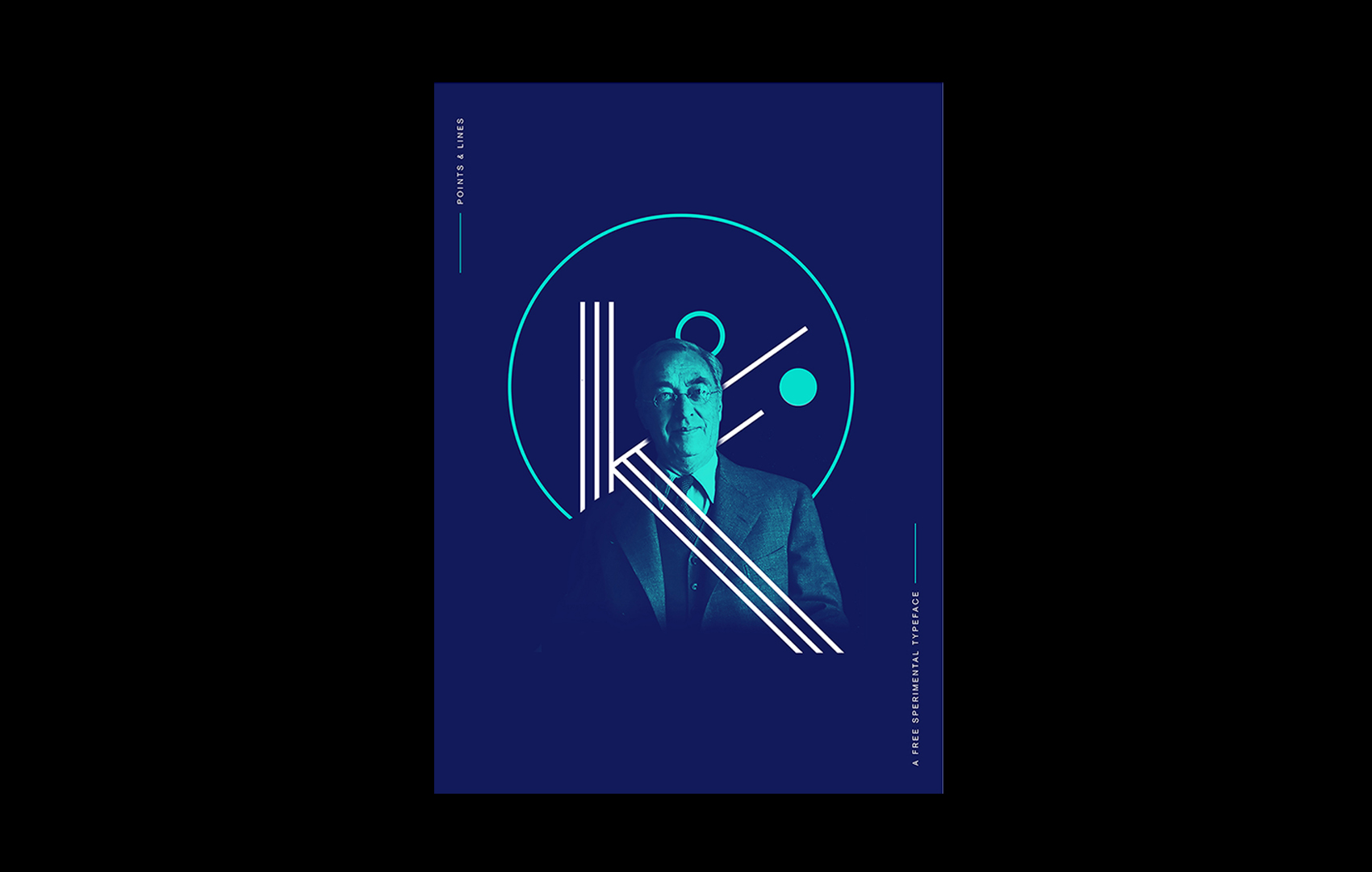 Points & Linees typeface – Poster Kandinsky