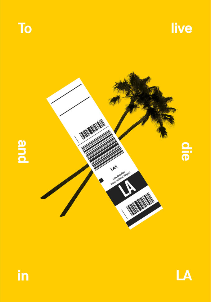 To Live and Die in L.A. posters serie - palms