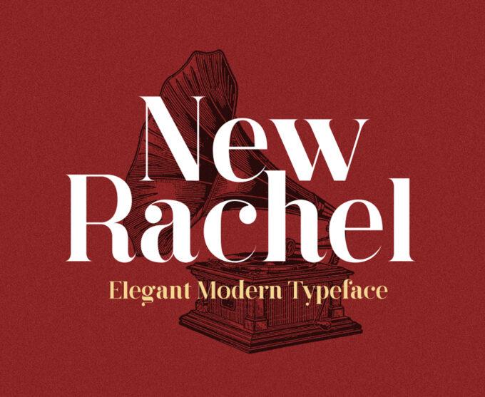 News Rachel font