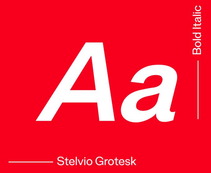 Stelvio Grotesk Bold Italic