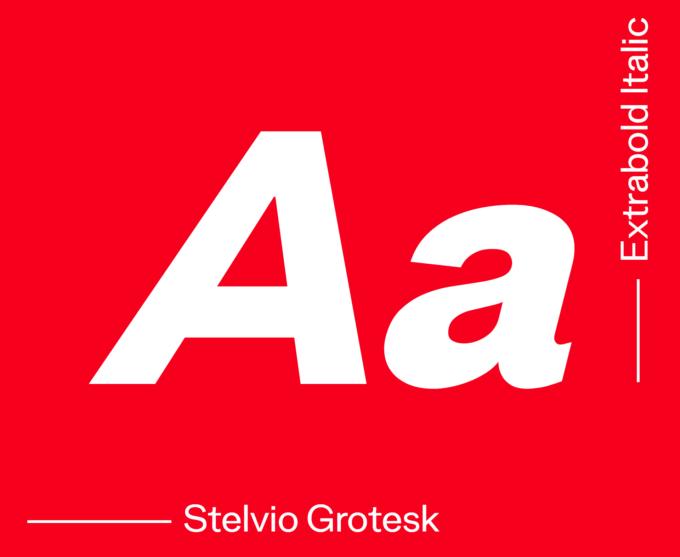 Stelvio Grotesk Extrabold Italic