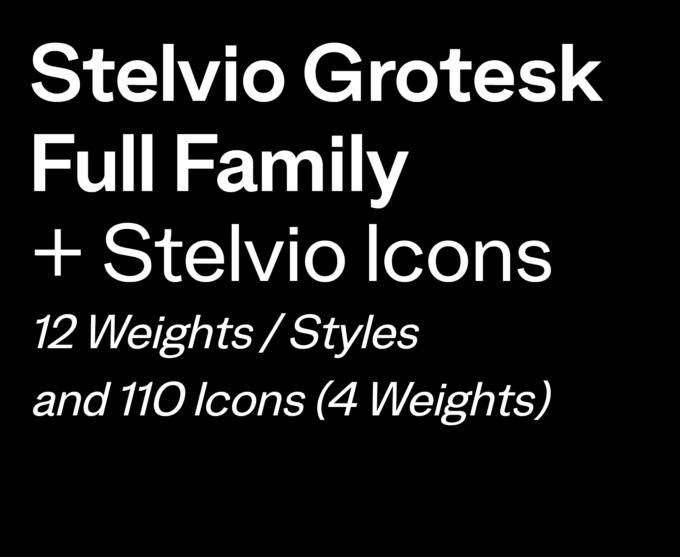 Stelvio Grotesk + Icons