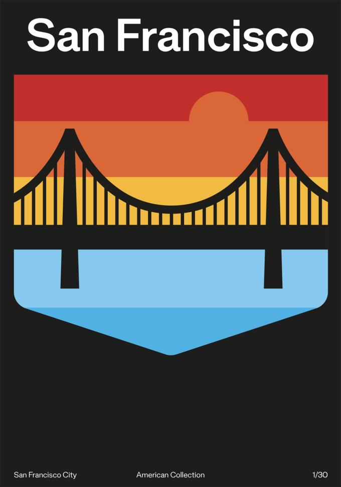 San Francisco - Poster American Collection