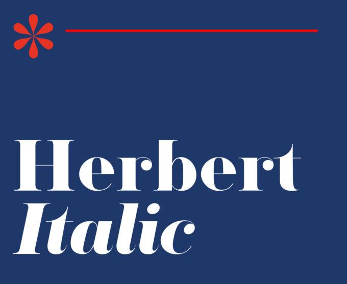 Herbert Typeface Italic